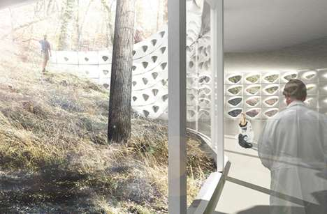 Cell Wall Structures - 'Contouring Climatic Porosity' is an Exercise in Architectural Biomimicry