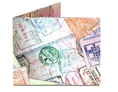 Recycled Map Wallets