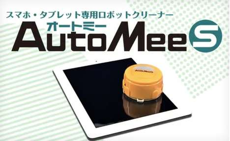 Roomba-Like Device Cleaner - The Automee-S by Takara Tomy Automatically Polishes Touchscreens