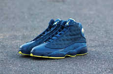 Revived Suede Retro Runners - The Jordan 13 Squadron Blue Sneakers Return 16 Years Later