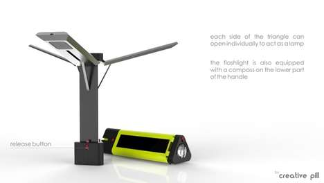 Three-Armed Solar Torches