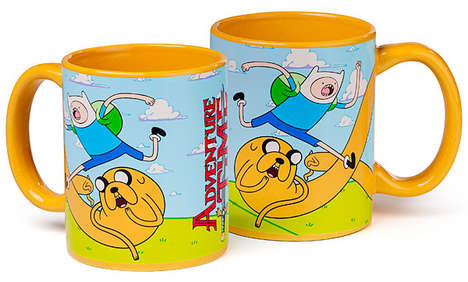 This Adventure Time Coffee Mug Features Jake and Finn