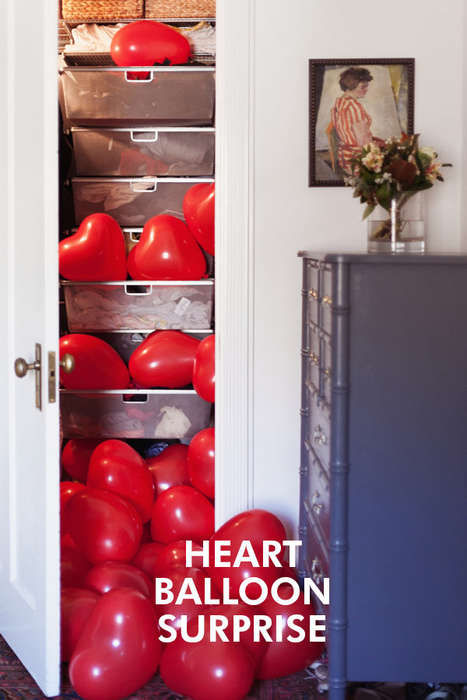 Balloon-Showering Suprises - The Oh Happy Day Budget Valentine Surprise is Amazing