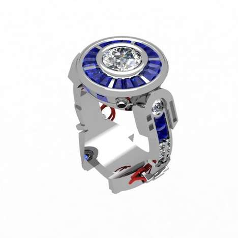 Intergalactic Robot Rings - This R2D2-Inspired Ring Will Sweep Her Off Her Geeky Feet