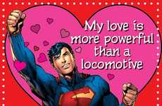 Festive Geeky One-Liner Cards - These Cheesy DC Valentine's Day Cards Will Make You Smile