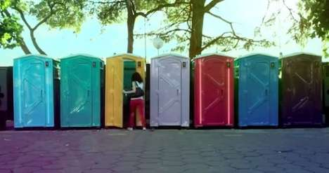 Musical Portable Toilets - The Rhythmical Potties Puts on an Entertaining Show