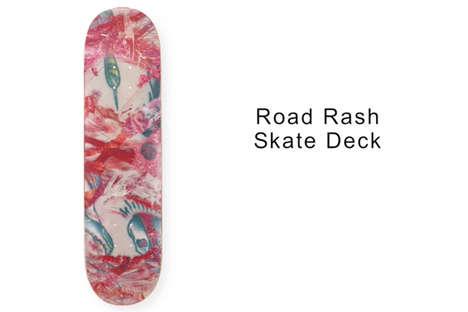 Paint-Scraped Skateboard Decks