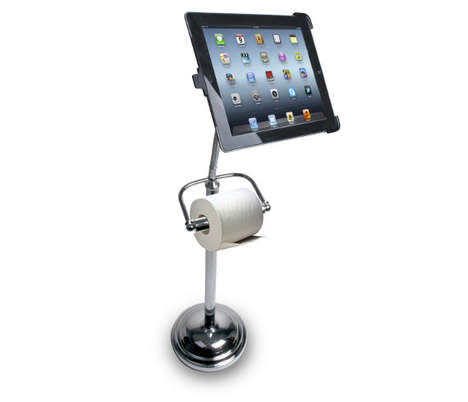 Lavatory Assisting Tablet Stands