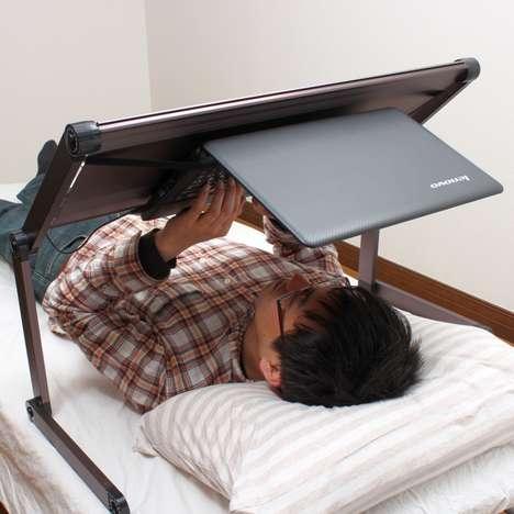 Lying Down Laptop Desks