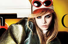 Brazen Mod Model Editorials - Cara Delevigne Graces the Cover of Vogue UK