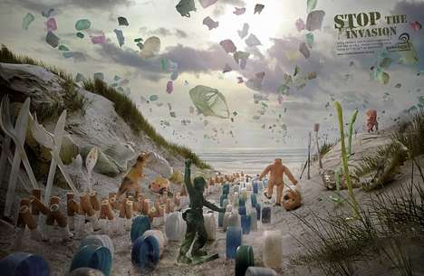 Plastic Waste Invasion Ads