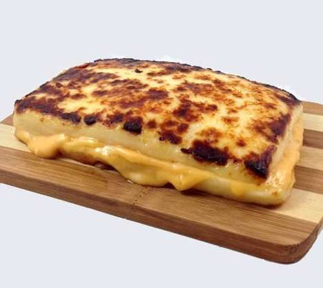 Superfluously Cheesy Sandwiches - The Ultimate Grilled Cheese Sandwich is Made Entirely of Cheese