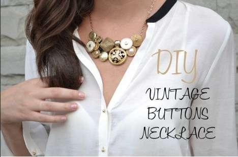 DIY Button Necklaces