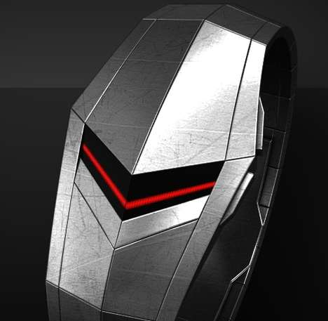 Futuristic Chevron Timepieces - The 'Volt' Faceless LED Watch is a Sci-Fi-Styled Accessory