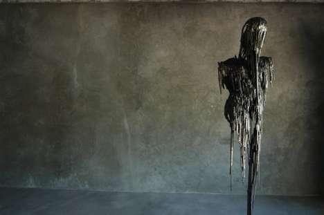 Melted Metal Sculptures