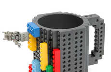 Building Block Mugs - The Build-On Brick Mug from ThinkGeek Allows You to Customize Your Drink