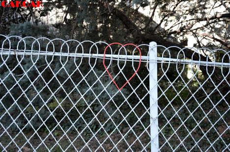 Heart-Bearing Metal Fences