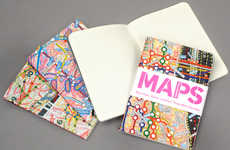 Map Adorned Journals - The Paula Scher 'Maps' Mini Notebook Collection Guides Your Way