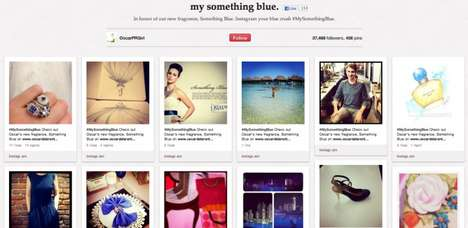 Social Media Fragrance Campaigns - The Oscar De La Renta Something Blue Tool Promotes Its Perfume