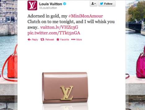 Literally Poetic Product Launches - The Louis Vuitton #LVlove Campaign Pairs Words with Fashion