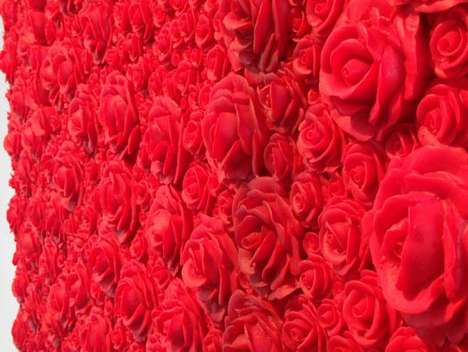 Acrylic Rose Garden Art