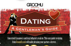 Suave Dating Tip Infographics - GroomU Gives Essential Advice on Dating for Gentlemen