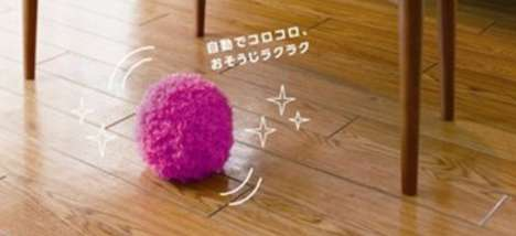 Automatic Fuzzball Dusters - The Mocoro Fluffy Robotic Cleaner is a Bouncy Ball of Dirt