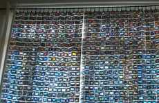 Vintage Photo Window Treatments - These Photo Curtains Are Made Entirely of 35mm Picture Slides