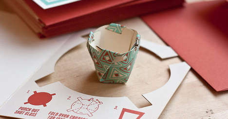 Pop-Out Paper Shooters - The Emergency Shot Glass Card Provides an Easy-To-Make Drinking Option