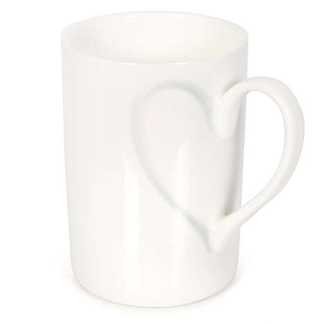 Symmetrical Lover Mugs - This Heart Mug Embodies Understated Affection