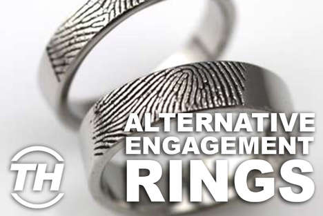Alternative Engagement Rings - Shelby Walsh Shows Off Unorthodox Wedding Rings to Win Your Loved One