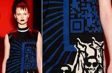 Scannable Couture Gowns - Vivienne Tam Debuted the QR Code Dress in her Fall Collection