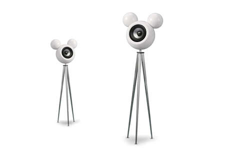 These Mickey Mouse Speakers by Mickey Mivu Use a Variety of Stands