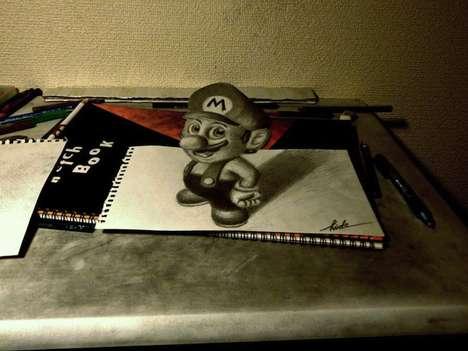 3D Pencil Gamer Illustrations (UPDATE)