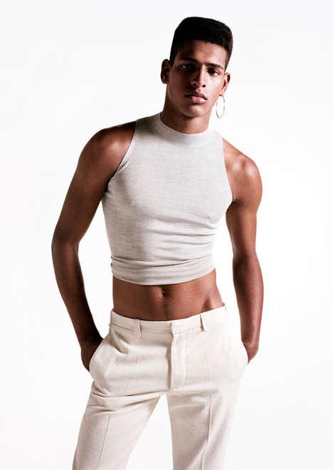 Androgynous Crop Top Menswear