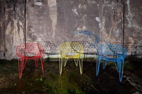Vibrantly Latticed Seating
