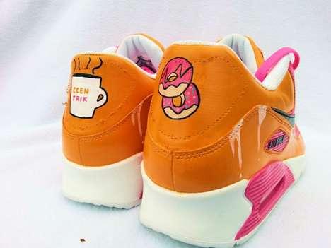 Vibrant Donut-Inspired Sneakers