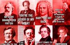 Composer-Inspired Valentine Cards - The New York Philharmonic Orchestra Has Your Back for V-Day