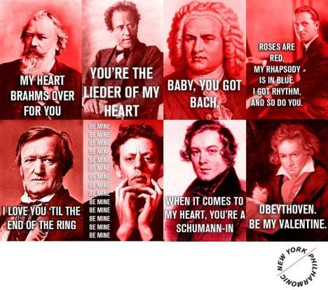 Composer-Inspired Valentine Cards
