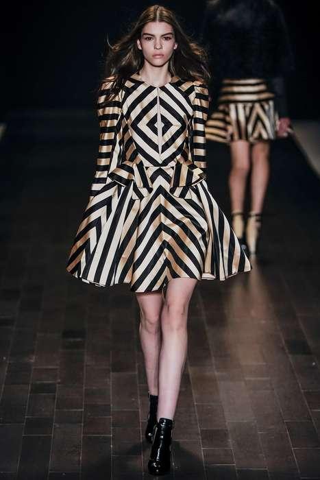 Geometric Print Couture