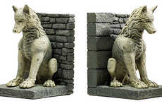 Lupine Novel Stands - The Game of Thrones Direwolves Bookends Hold Hefty Books