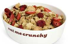 Crunch Optimized Cereal Bowls - The Eatmecrunchy Cereal Bowl Keeps Your Cereal from Getting Soggy