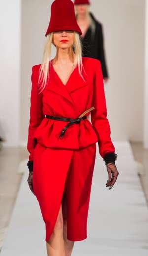 Draped Neckline Fashions