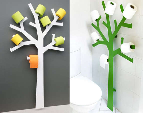 13 bizarre toilet paper holder designs Kids toilet paper holder