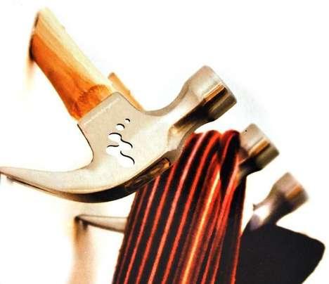 Uniquely Upcycled Hammer Hooks