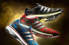 Energy-Enhancing Sneakers - Adidas Boost Running Shoes Increase Speed and Bounce
