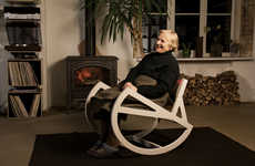 Oversized Rocking Chairs - This Stylish Rocking Chair by Ignas Survila Will Keep You Entertained