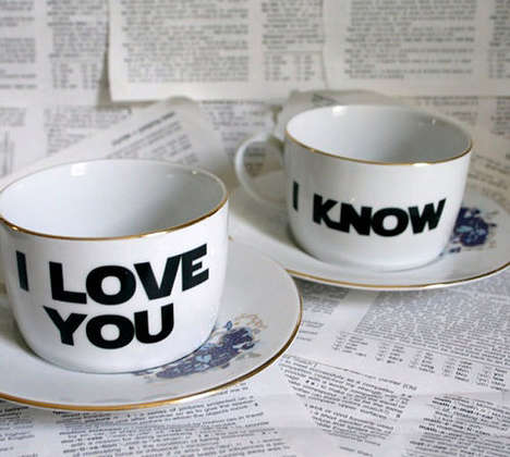Sarcastically Romantic Tea Cups