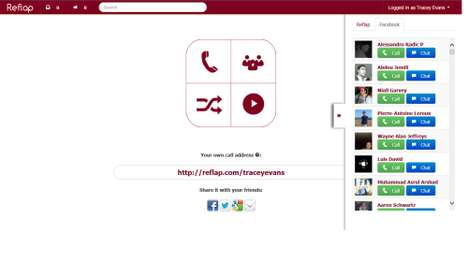 Video-Enabled Chat Websites - Reflap Lets Users Make Video and Phone Calls to Friends Online