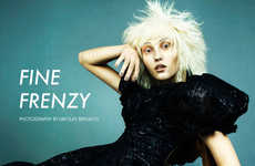 Eccentric Gothic Editorials - The Fashion Gone Rogue 'Fine Frenzy' Stars a Chanel-Clad Ursula Kim